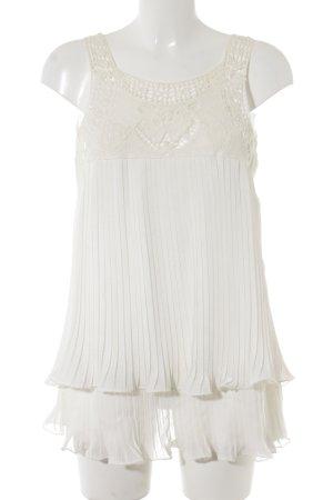 Angela Long-Bluse weiß-wollweiß Elegant
