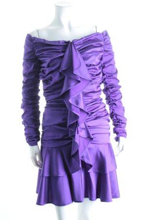 Angelo Tarlazzi Stretchkleid lila Eleganz-Look