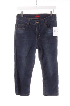 Angels 3/4-jeans donkerblauw-lichtbruin straat-mode uitstraling