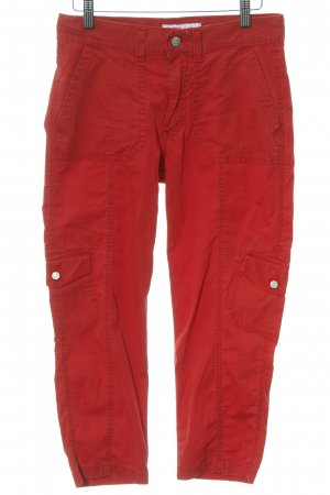 Angels 7/8 Length Trousers bright red simple style