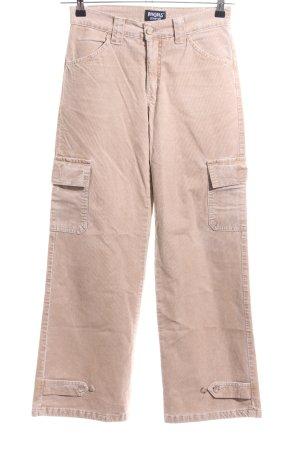 Angels Pantalone di velluto a coste bianco sporco stile casual