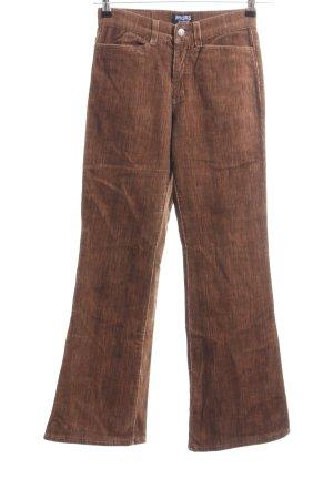 Angels Pantalone di velluto a coste marrone puntinato stile casual