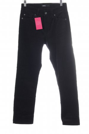 Angels Pantalone di velluto a coste nero stile casual
