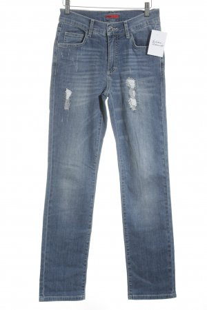 Angels Jeans a vita alta blu stile povero