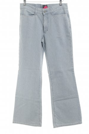 Angels Denim Flares neon blue-white striped pattern casual look