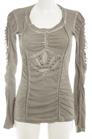 Angels Never Die Longshirt khaki Bleached-Optik