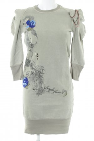Angels Never Die Abito maglione cachi-blu motivo floreale elegante