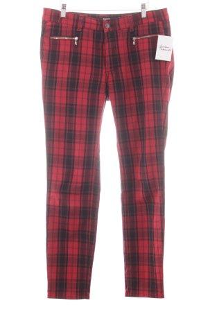 Angels Jeans slim fit nero-rosso motivo a quadri stile casual