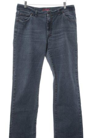 Angels Jeans met rechte pijpen grijs gestippeld gewassen uitstraling