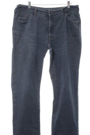 Angels Jeans met rechte pijpen leigrijs gestippeld gewassen uitstraling