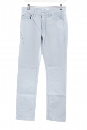 Angels Jeans a gamba dritta azzurro Logo applicato (in pelle)