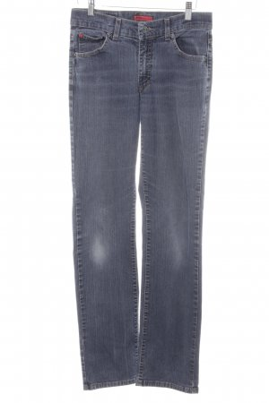 Angels Jeans a gamba dritta blu fiordaliso puntinato stile casual