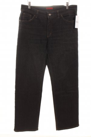 Angels Jeans met rechte pijpen zwart gestippeld casual uitstraling