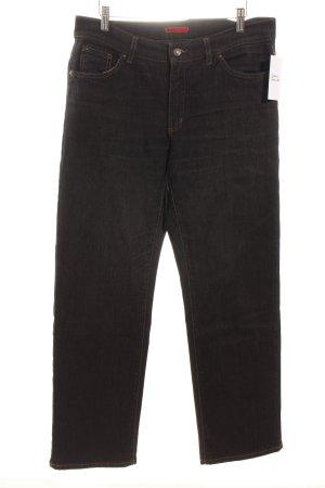 Angels Jeans a gamba dritta nero puntinato stile casual