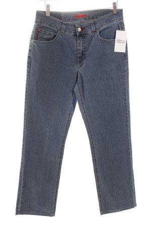 Angels Jeans met rechte pijpen staalblauw-wolwit casual uitstraling