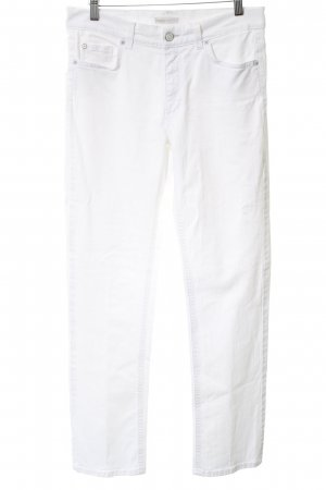 Angels Straight Leg Jeans white Logo application