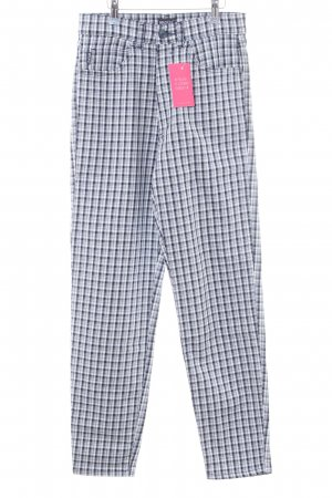 Angels Stretch Trousers blue-white check pattern casual look