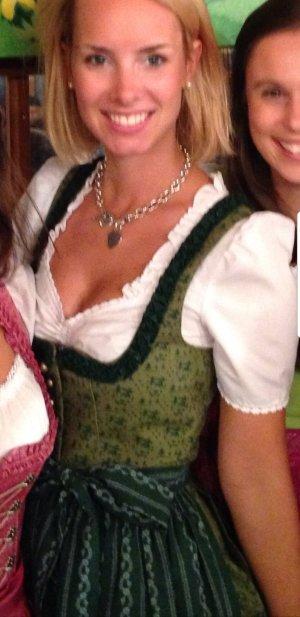 Angermaier Vestido tradicional verde bosque-verde claro