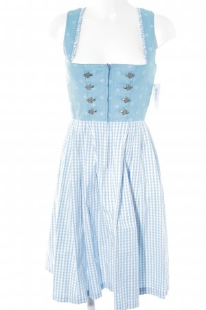 Angermaier Dirndl white-light blue mixed pattern country style