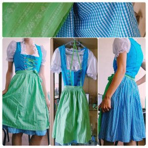 Angermaier Dirndl blue-green