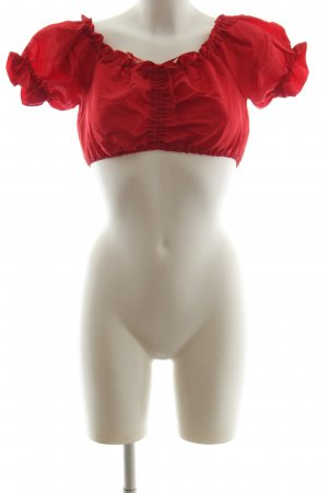 Angermaier Blusa tradizionale rosso stile casual
