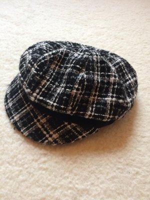 Baker's Boy Cap white-black mixture fibre