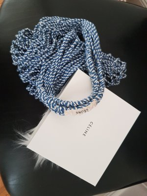 Celine Buideltas wit-neon blauw Katoen