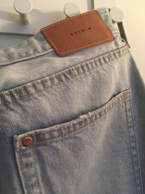 H&M Pantalon boyfriend bleu azur