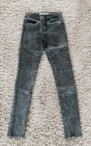Angesagte Jeans in grau-meliert von Only