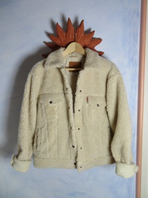 angesagte Levis Sherpa Trucker Jacket - Cloud Cream - Gr. L - Teddyfell Jacke -  Fake Fur
