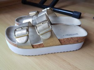 Hennes Collection by H&M Plateauzool Sandalen met Hoge Hakken goud
