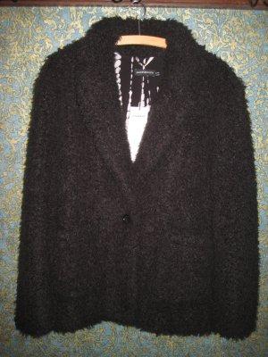 Angesagte Teddyjacke Plüschjacke von Antik Batik Gr. 42 schwarz