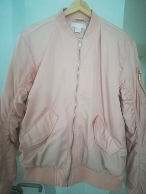 H&M Blouson aviateur rose chair polyester