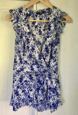 Oasis Camicetta aderente bianco-blu Viscosa