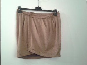 Jupe portefeuille marron clair-beige