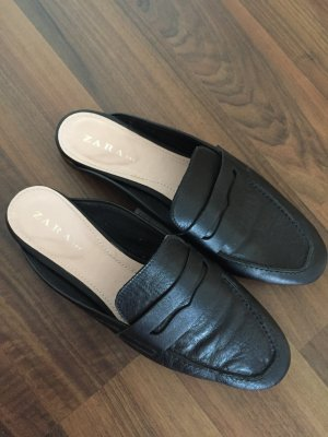 Zara Slippers black-cream