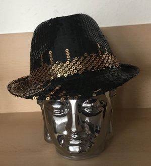 Chapeau panama noir-brun sable synthétique