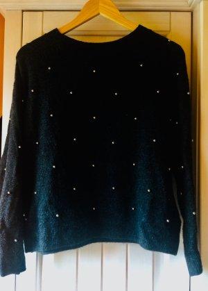 pretty nice 428d8 b0ace Angesagter Pullover mit Deko-Perlen in schwarz