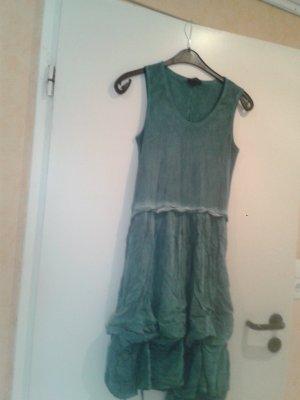 angesagtes einzigartiges Hippi Boho Kleidchen Kleid grün petrol  v. VESTINO  ( besondere italienische Mode )