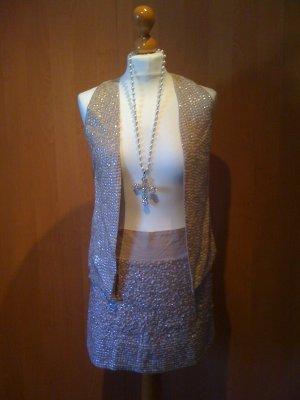 angesagtes Pailletten Silvester-Outfit, Rock + Weste