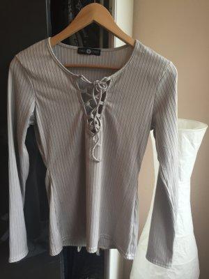 Shirt mauve-light grey