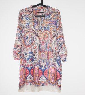 Angesagtes Seidenblusen Kleid mit Ethno Muster