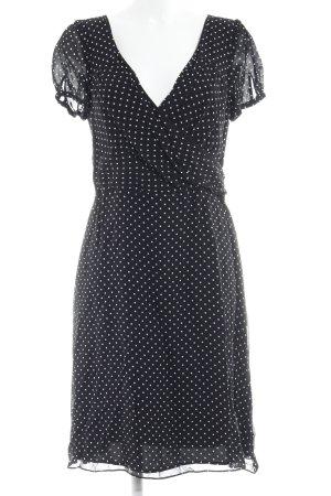 Angie Robe trapèze noir-blanc motif de tache Paris-Look