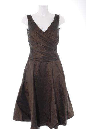 Angie Abendkleid dunkelbraun-braun Schimmer-Optik