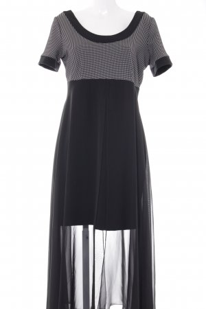 Angie Evening Dress black-white check pattern elegant
