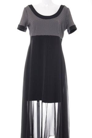 Angie Robe de soirée noir-blanc motif à carreaux élégant
