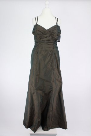 Ball Dress taupe-green grey acetate