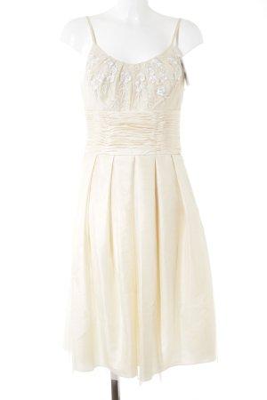 Angie Vestido de baile nude estampado floral elegante
