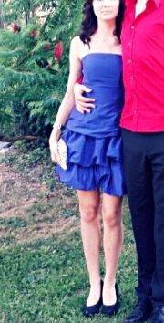 Angie blaues Abschlusskleid