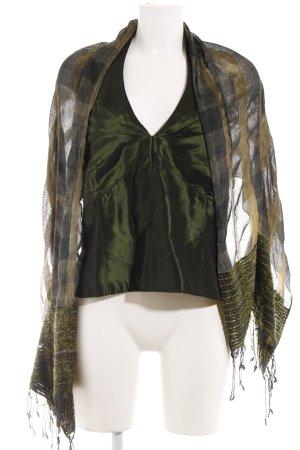 Angie Blusa brillante verde oscuro-verde bosque elegante
